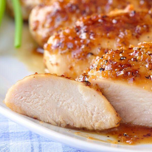 Honey Ginger Glazed Boneless Chicken Breast